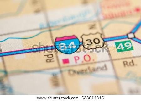 Interstate 84 Idaho Usa Stock Photo Edit Now 533014315 Shutterstock