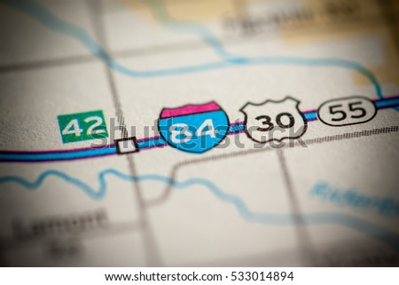 Interstate 84 Road 30 Idaho Usa Stock Photo Edit Now 533014894