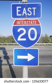 Interstate Highway 20 East entrance in Southeast USA
