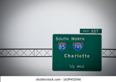 "Interstate I-85 LARGE 12/"" x 15/"" metal highway sign Atlanta to Charlotte"