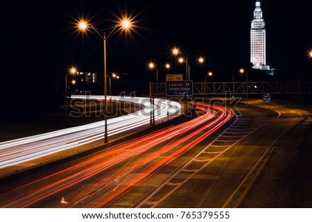 Interstate Light Trails Baton Rouge Stock Photo Edit Now 765379555