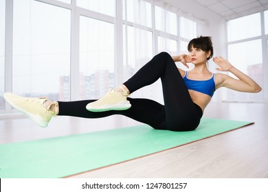 interval workout, activity, healthy lifestyle, sport, weight loss, tabata. fit woman training abs