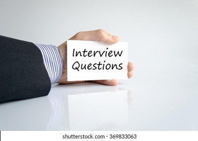 Interview questions text concept isolated over white background