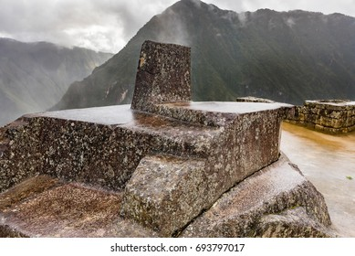 The Intihuatana stone also known as the hitching post to the sun