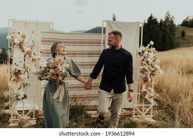 A intimate and discreet wedding ceremony in nature. Wedding adapted to the conditions of the pandemic