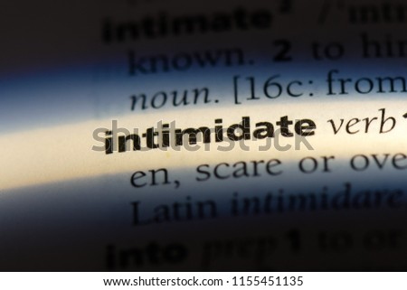 Less intimidating meaning dictionary