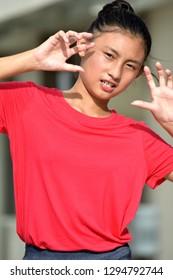 An Intimidating Filipina Youth