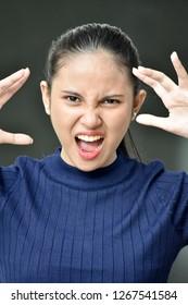 Intimidating Teenager Girl