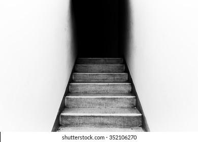 Into Dark Concept Dark Ending Background Stock Photo Edit Now
