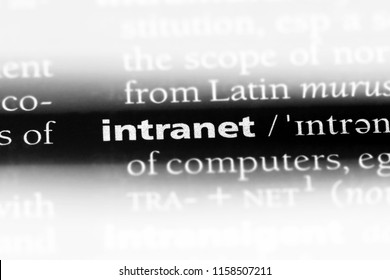 intranet word in a dictionary. intranet concept.