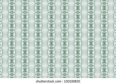 Intricate blue / green (teal) diamond / stripe pattern on white background (tile able)