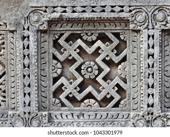 Intricate carvings at Rani Ki Vav, which is a UNESCO World Heritage Site located in Patan, Gujarat, India. It was built by Queen Udayamati, wife of Bhimdeva-1 (AD 1022-1063).