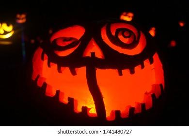 Intricate large jack 'o lantern