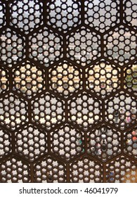 Intricate marble screen in  Amber Fort, near  Jaipur, Rajasthan,  India