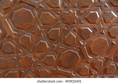 Intricate patterns on carved doors in  the Ulu Cami mosque,  Mardin,  Turkey