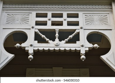 Intricate white archway - Garden District, New Orleans, Louisiana, USA