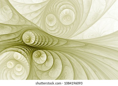 Intricate woven / disc abstract yellow / grey design (3D illustration, white background)