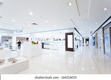 intrior of shopping mall
