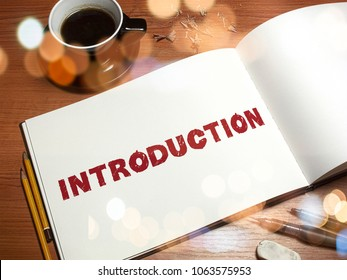 Introduction Word for business concept