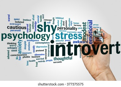 Introvert concept word cloud background
