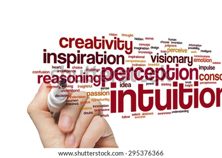 Intuition Word Cloud Background Stock Photo (Edit Now