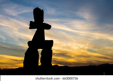 Inuk-shuk in sunset