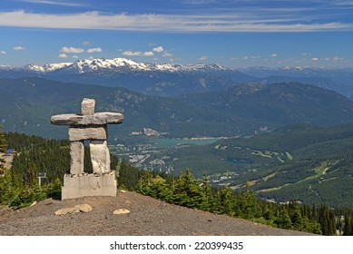The Inukshuk at Whistler. Inukshuk are human-like figures built with rocks and stones. They serve as a marker and have special significance to the First Nation.