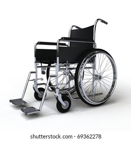 invalid chair isolated on white