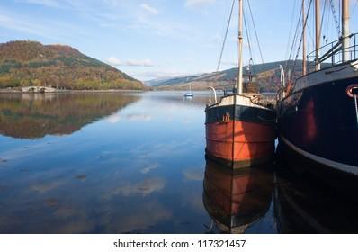 Inveraray harbour scotland