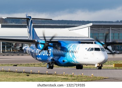 Inverness, Scotland - 02/20/2019: Nordica ATR 72-600
