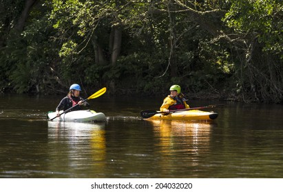 INVERNESS, SCOTLAND - 6 JULY: This is participants within a Ness River and Caledonian Canal Kayaking Marathon event at Inverness, Scotland on 6 July 2014.