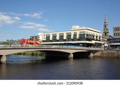 INVERNESS, SCOTLAND - June 08, 2013: Bridge in Inverness, Scotland on a sunny summer day
