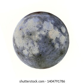 Inverted Black and White Full Moon