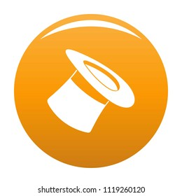Inverted hat icon. Simple illustration of inverted hat icon for any design orange