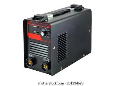 Inverter welding machine. Isolated on white background with clipping path
