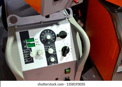 Inverter welding MIG machine. Equipment for welding metals in a protective inert gas environment. - Image