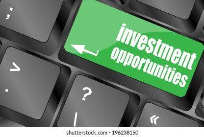 invest or investing concepts, with a message on enter key or keyboard, keyboard keys, keyboard button