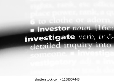 investigate word in a dictionary. investigate concept.