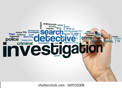Investigation word cloud