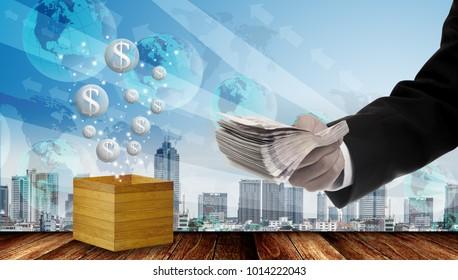 Investiment in economic bubbles concept