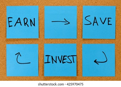 Investing Concept - Investing money after you earn it