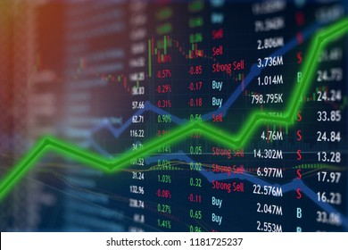 Investing and stock market concept gain and profits with faded candlestick charts in dark concept design.  Upward gains and massive profits.