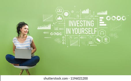 Investing in yourself with young woman using a laptop computer