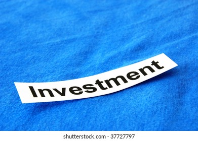 investment concept with copyspace for text message