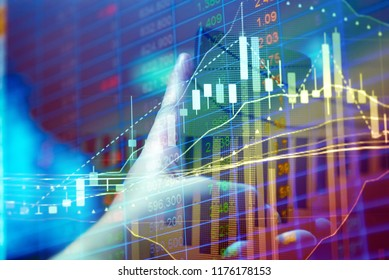 Investment growth concept with price of gold on gold market graph background: Candle stick graph chart for investment trading to grow in the active high trend and low trend.