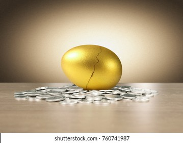 Investment stock concept of golden eggs