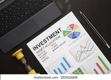 Investment in stocks for a long time. Distribution of risks. Development of portfolio diversification. Time is money. Asset placement. Comfortable future, success, dignified old age