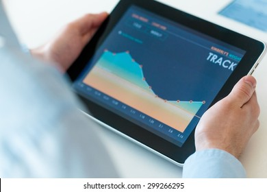 Investment, tablet, research.
