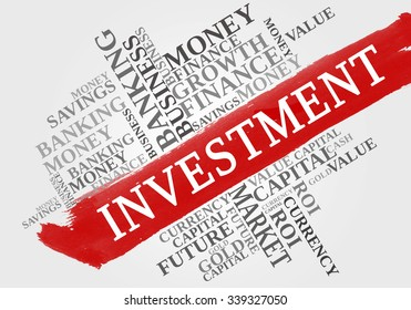 INVESTMENT word cloud, business concept