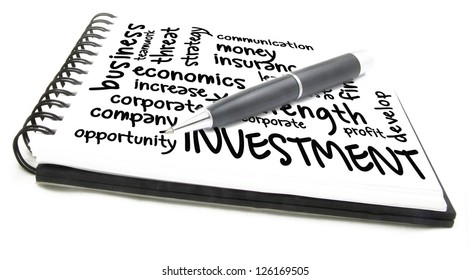 investment word cloud notes